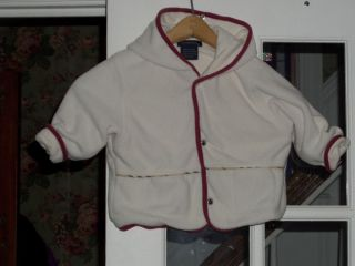 Infant Toddler Girl's Auth Burberry Fleece Lined Hooded Coat Jacket Size 18M