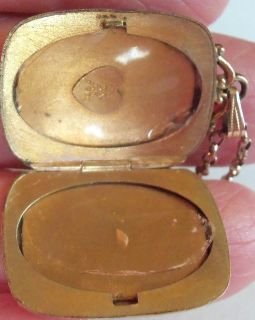 Victorian Art Nouveau Etched Sweetheat Gold Fillled F Initial Locket Necklace