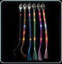 12 Piece Blinking Hair Braid Multi Color Flashing LED Light Up Rave Party Supply