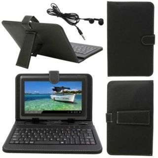 "8GB 7"" A13 Android 4 0 Capacitive Screen Tablet PC Black Keyboard Case Bundles"