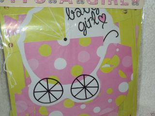 """It's A Girl "" Letter Banner Baby Shower Decoration Hospital Carriage 7'"