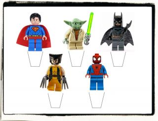 20 Stand Up Edible Cake Toppers Lego Superheroes Cake Toppers