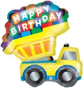 "31"" Happy Birthday Dump Truck Balloon Boys Construction Theme Party Supplies"