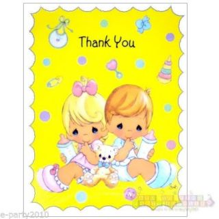 Precious Moments Party Supplies Thank You Cards Baby