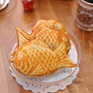 Non Stick Taiyaki Fish Shaped Cake Pan Waffle Bread Street Party Food Maker