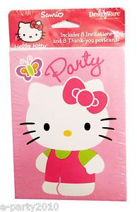 8 Hello Kitty Invitations 8 Thank You Cards Birthday Party Supplies