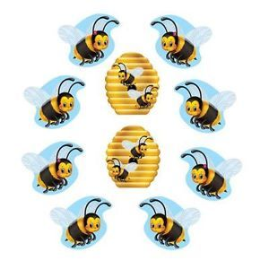 10 Bumble Bee Cuthouts Party Decorations Supplies Favor