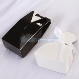 1 Pair Tuxedo Dress Gown Gift Box Wedding Favor Party Boxes Candy Supply Case