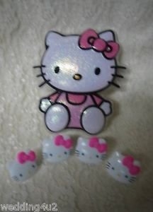 24 Cake Party Supplies Cupcake Hello Kitty Sanrio Rings Cake Topper