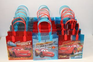 24 PC Disney Cars Goodie Bags Party Favor Bags Gift Bags Birthday Bags