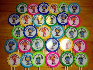 30 Team Umizoomi Personalized Cupcake Toppers Birthday Party Favors Supply