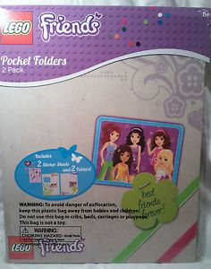 Lego Friends 2 Pocket Folders w Stickers New Party Favors School Supplies