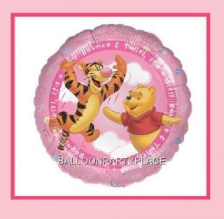 It's A Girl Winnie The Pooh Balloon Baby Shower Decorations Party Supplies Pink