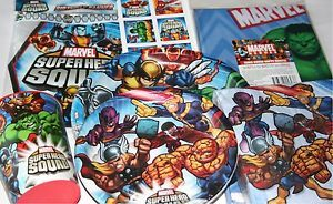 Marvel Heroes Super Hero Squad Birthday Party Supplies Many Choices