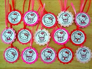 30 Hello Kitty Personalized Tags Birthday Party Favors Supply