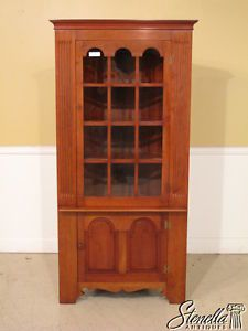 19352 Stickley Cherry Valley 1 Door Corner China Cabinet