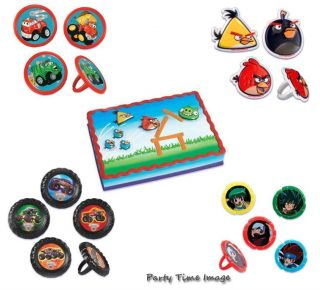 Cupcake Rings Chuck The Truck Angry Birds Monster Jam Beyblade Cake Party 12 6