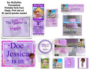 Doc McStuffins Theme Birthday Party Printables Invitations Sign Easy U Print