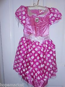 New Disney Minnie Mouse Clubhouse Dress Up Toddler Girls Costume 2T 3T 4T 4 6X