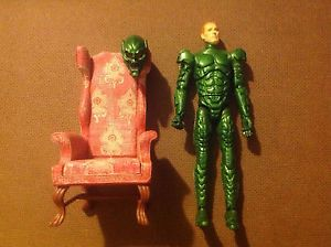 "Green Goblin Norman Osborn 5"" Spider Man Movie Action Figure Talking Chair"