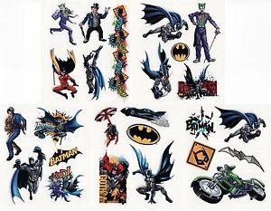 25 Assorted Batman Dark Knight Joker DC Tattoos Birthday Party Supplies Favors