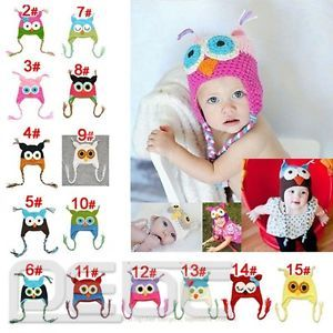 2013 Hot Wholesale Cute Baby Boy Girl Toddler Owls Knit Crochet Hat Beanie Cap