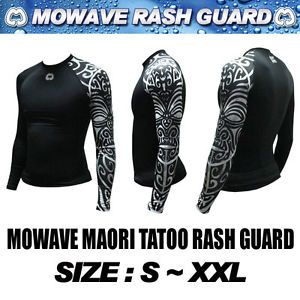Mowave Athletic Maori Tatoo Rashguard Baselayers MMA Swim Wear Surfing Shirts