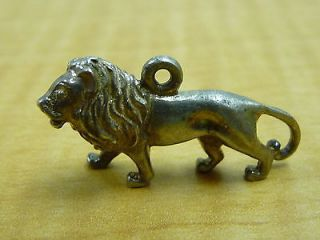 Nice 925 Sterling Silver Lion Necklace Pendant Charm