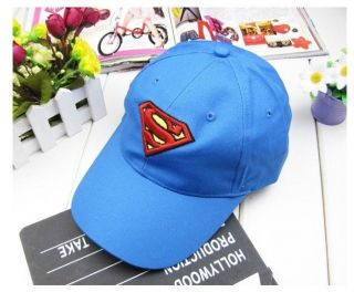 Superman Tilted Shield Adjustable Cap Toddler Kids Baby Boy Infant Blue Color