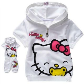 Hello Kitty Pink Suit 1 5 Years Tracksuit Hoodie Shorts Top Outfit Trousers Baby