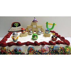 Angry Birds Space Puzzle Erasers 27 Piece Birthday Cake Topper Colors May Vary