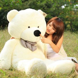 Hot Giant 80cm Big Cute Beige Plush Teddy Bear Huge Soft 100 Cotton Toy