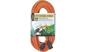 Prime Wire Cable 125 Volt Outdoor Extension Cord 50ft Model EC501630