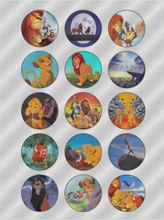 N413 Edible Image Birthday Decoration Cake Cookie Cupcake Toppers Lion King
