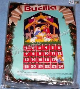 Bucilla Nativity Felt Christmas Advent Calendar Kit '91
