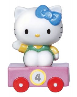 Precious Moments Hello Kitty Birthday Train Car Age 4 Porcelain Figurine Sanrio