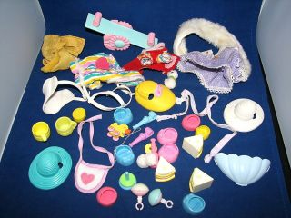 Vtg My Little Pony Lot of Accessories Shoes Clothes Baby Toys Hats 1980s Parts