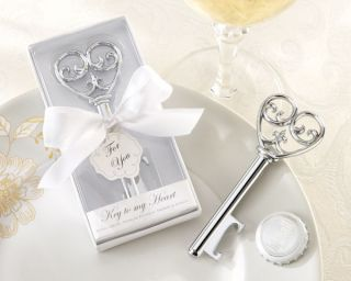 Key to My Heart Shaped Beer Bottle Top Opener Party Favor Bridal Wedding Gift