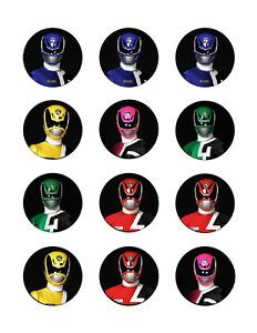 Power Rangers Edible Party Cupcake Toppers Decoration