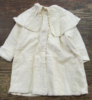 Antique Baby Dress Gown House Bed Coat Embroidered Vintage Clothing Doll NR