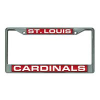 St Louis Cardinals Car Auto Laser Mirror Chrome License Plate Frame MLB Baseball