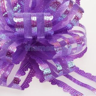 Purple Pull Bow Flower Gift Wrap Wedding Birthday Party Decoration Chirstmas Hot