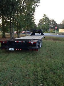 '08 8 5x25 Gooseneck 10 Ton Equipment Trailer Flatbed