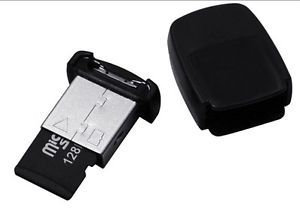 Micro SD SDHC TF Flash Memory Card Mini USB Reader Adapter S2 Black