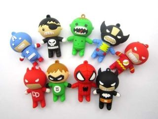 4GB 8GB 16GB 32GB 3D Cartoon Toy Figure Super Hero USB Flash Memory Stick