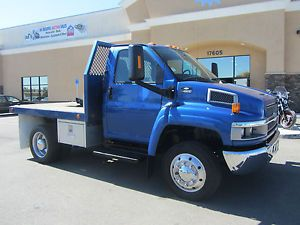 2005 Chevrolet C4500 Diesel Pusher Flatbed Stake Bed Tow Truck