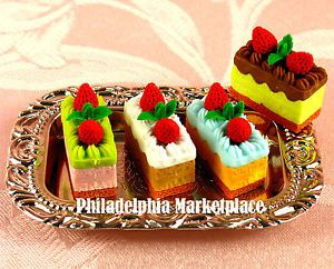 Doll Food Miniature Mini Toy Pretend Play Food American Girl Doll Napoleon Cake