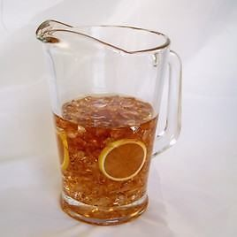 Ice Tea Glass Pitcher Lemon Slices Realistic Fake Food Faux Beverage Prop Drink