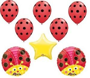 Ladybug Birthday Baby Shower Party Supplies Decorations Balloons Latex Mylar Set