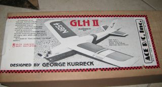 New Vintage Ace R C GLH II Airplane Kit RC USA Balsa Foam 1 2A Racer 50L210